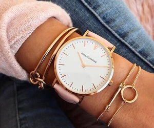 watch, bracelet, and jeans image