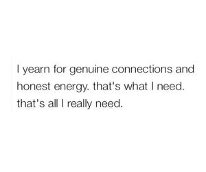 connection, energy, and genuine image
