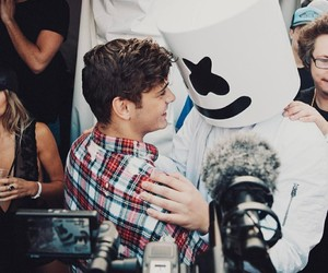 marshmello, garrix, and boy image