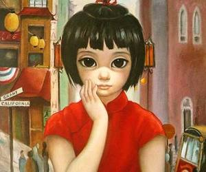 art, china, and Margaret Keane image