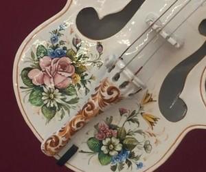 floral, instrument, and porcelain image