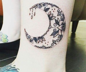 tattoo, moon, and luna image