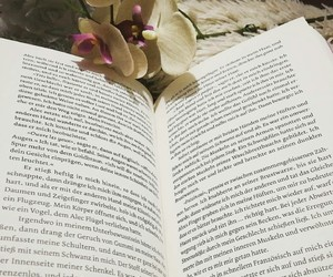 books, buch, and flower image