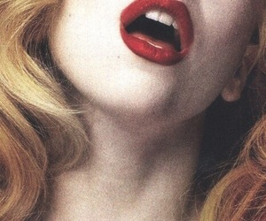 lips, girl, and Lady gaga image