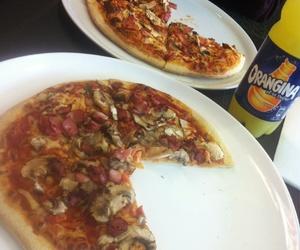 food, orangina, and pizza image
