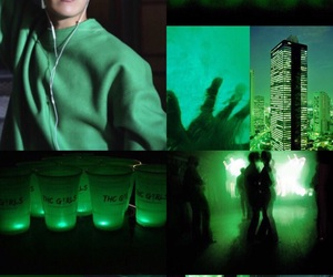 Collage, edit, and green image