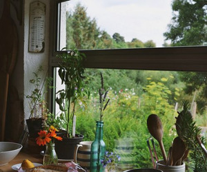 home, kitchen, and window image