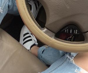 adidas, boyfriend, and car image