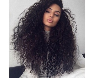 beauty, curly hair, and fashion image
