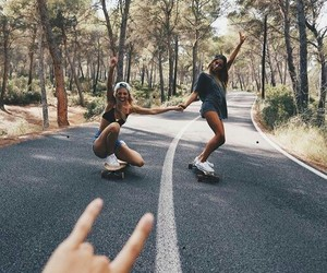friends, friendship, and skate image