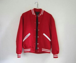 college, jacket, and red image