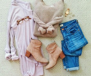 boots, clothes, and fall fashion image