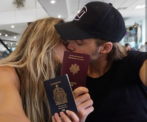 couple, kiss, and travel image
