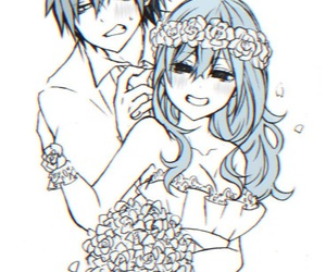 anime, gray fullbuster, and love image