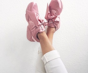 pink, puma, and sneakers image