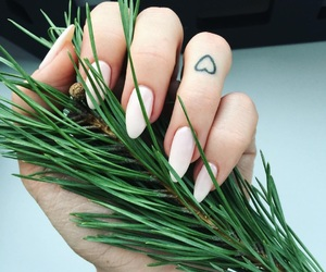 tattoo, green, and nails image