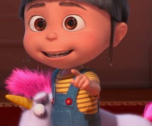 unicorn, agnes, and despicable me image