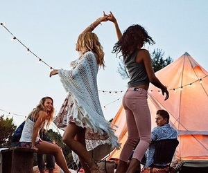 friends, dance, and friendship image