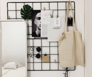 bedroom, decor, and grid image