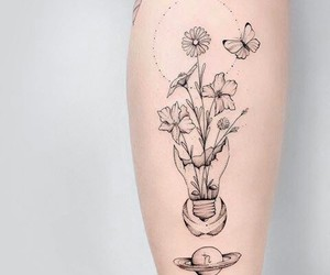 flores, ideas, and tattoo image