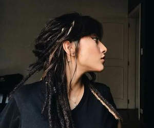 hair, dreads, and girls image