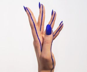 blue, nails, and hand image
