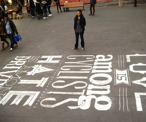 art, street, and text image