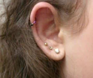 aesthetic, ear, and earrings image