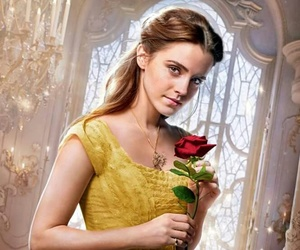 beauty and the beast, belle, and emma watson image
