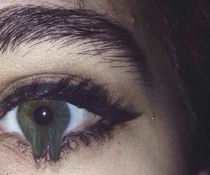 dark, eye, and eyebrows image