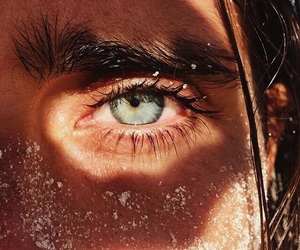 eyes, beach, and blue image