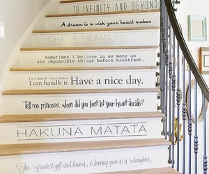 quotes, disney, and stairs image