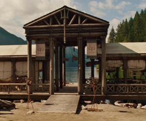 lake, percy jackson, and poseidon's cabin image
