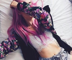 hair, tattoo, and outfit image
