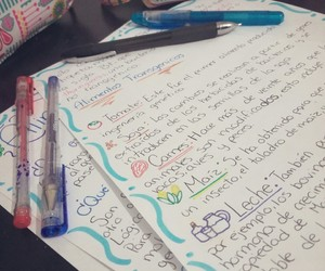 colors, homework, and school image
