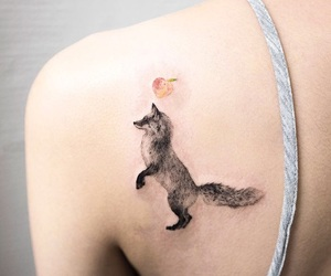 fox, tattoo, and Tattoos image