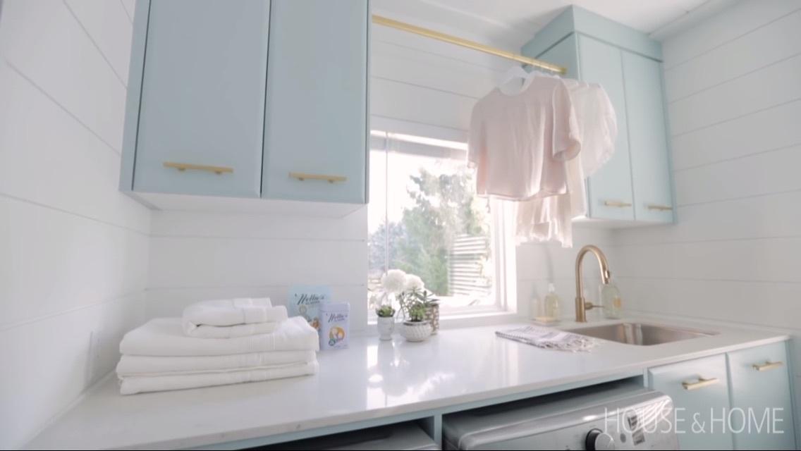 design, interior, and laundry image