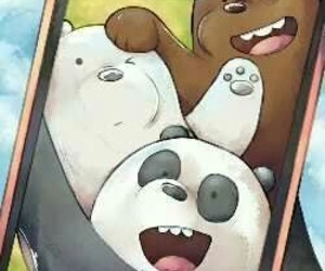 we bare bears, panda, and grizzly image