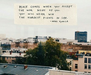 quotes, city, and peace image