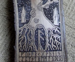 god, tree, and viking image