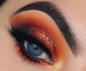 eyebrows, eyelashes, and make-up image