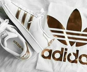 adidas, gold, and t-shirt image