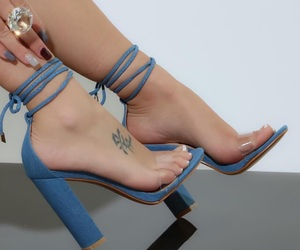 blue, clear, and heels image