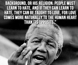 quotes, nelson mandela, and hate image