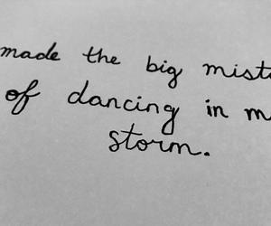 handwritten, Lyrics, and storm image