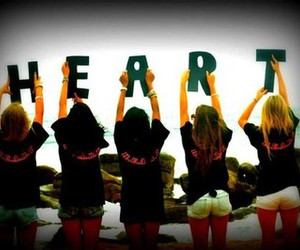 girls, heart, and summer image