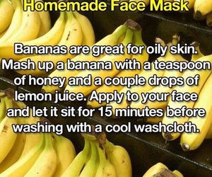 banana, oil, and mask image