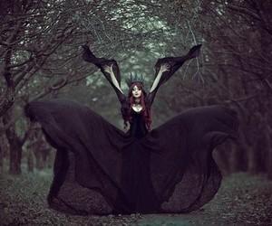 black, dark, and magic image
