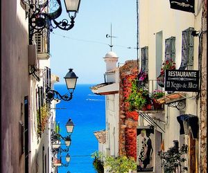 spain, street, and sea image