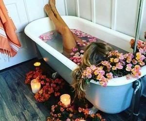 rose, bath, and fashion image